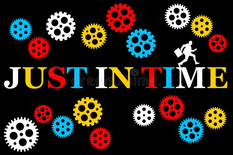 Just in time stock illustration