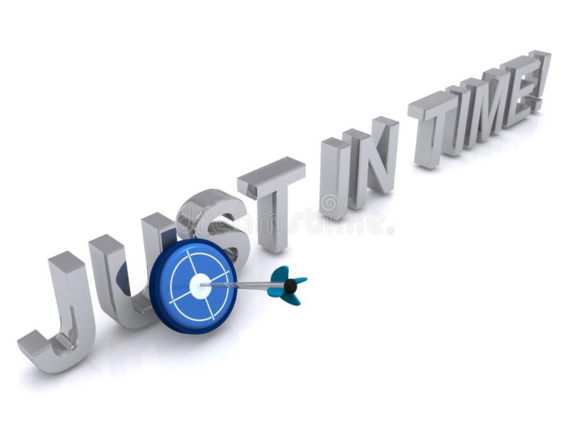 Just in time sign royalty free illustration