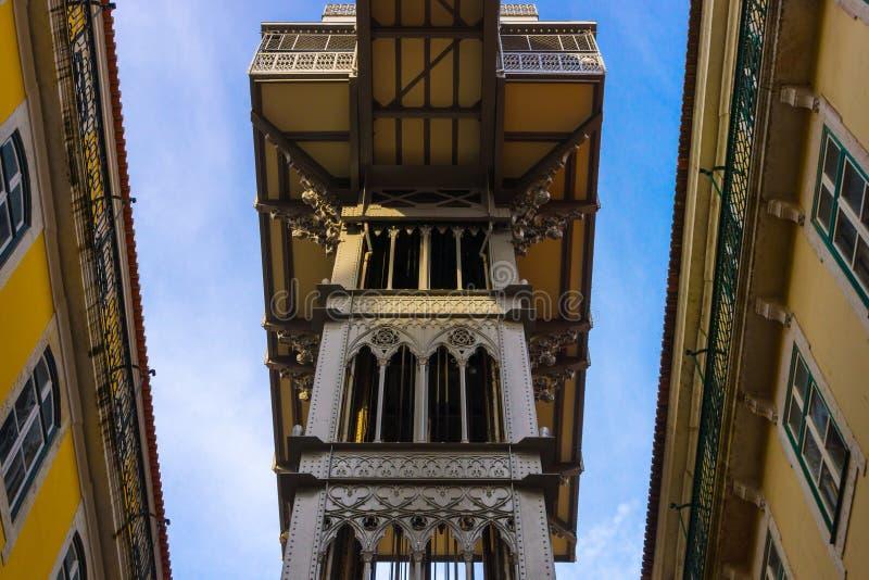 Justa Lissabon van liftsanta stock fotografie