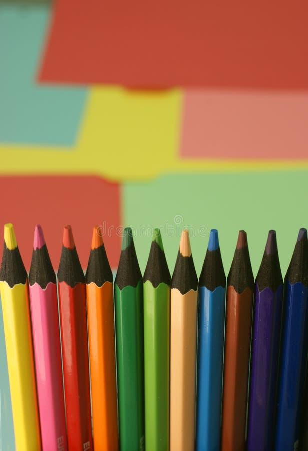 juste crayons photos libres de droits