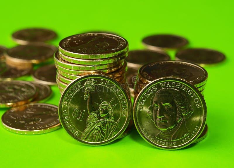 Juste de gouvernement des USA émis le dollar présidentiel neuf invente photos stock