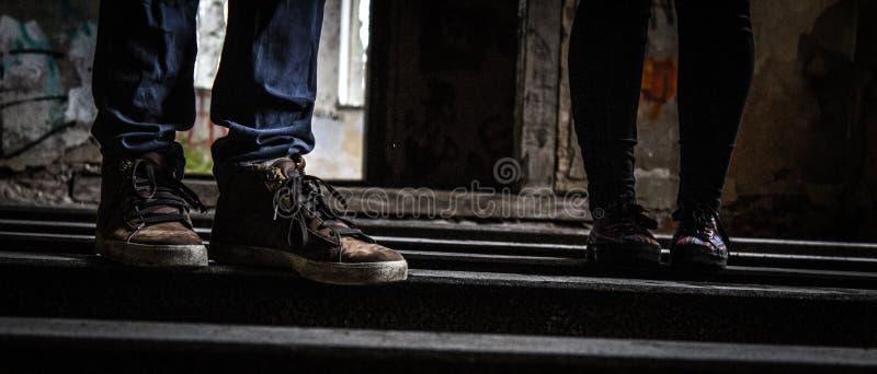 Juste les pieds photos libres de droits