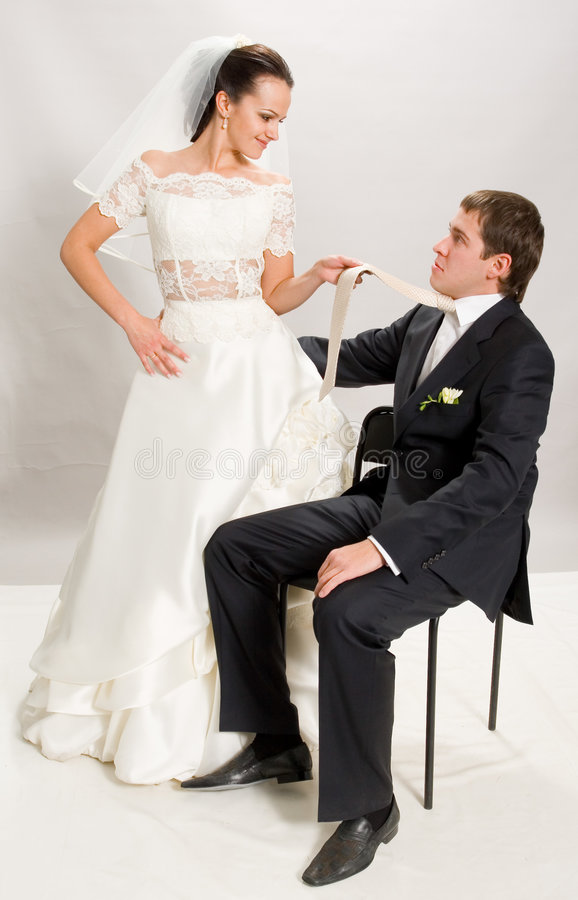 Juste marié. photo stock