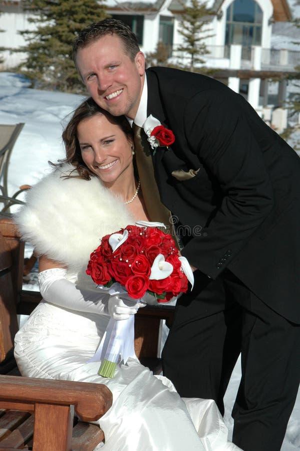 Juste marié photographie stock libre de droits