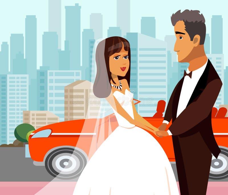 Juste mari? riche, illustration plate de nouveaux mari illustration stock