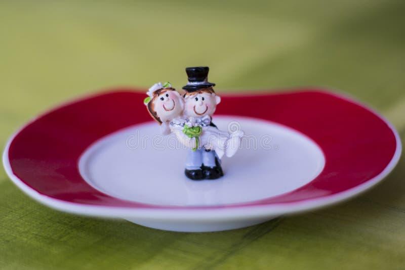 Juste mini-statue mariée images libres de droits