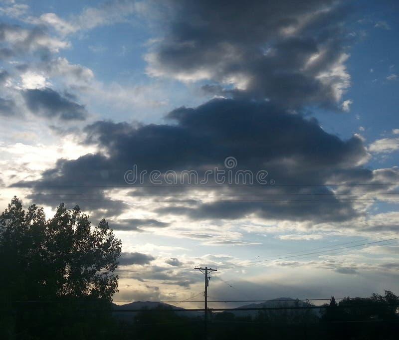 Juste nuages image libre de droits
