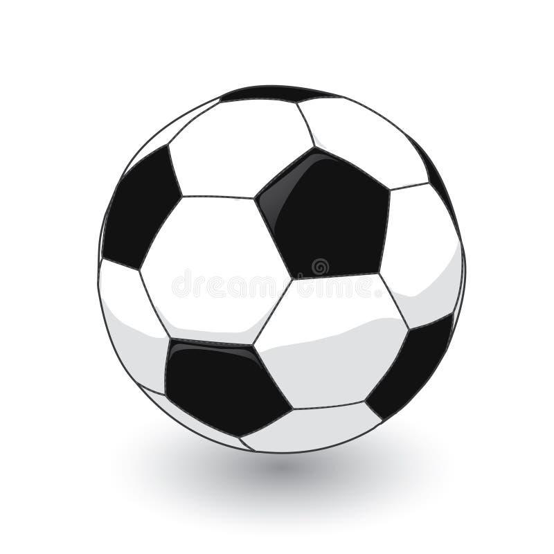 Juste un football sans joint photographie stock
