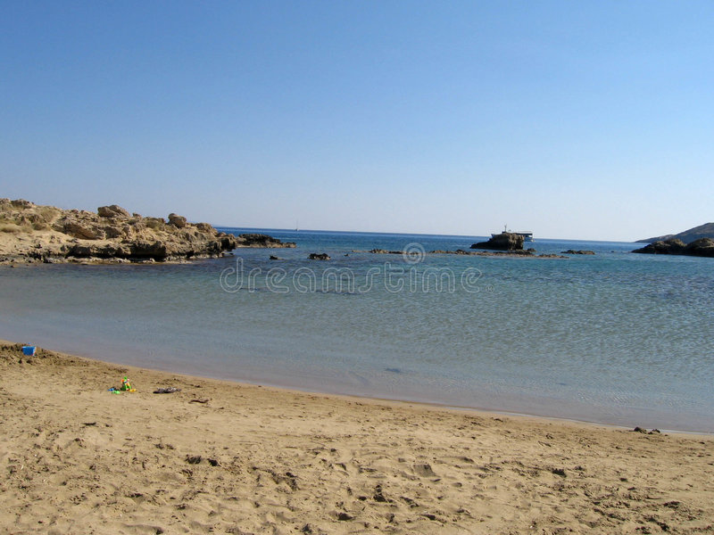 Juste une plage images stock