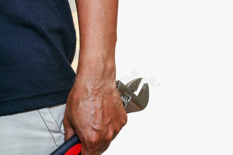 Justerbar skiftnyckel för manhandhåll arkivbild