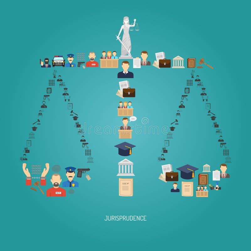 Justiça Concept Flat ilustração do vetor