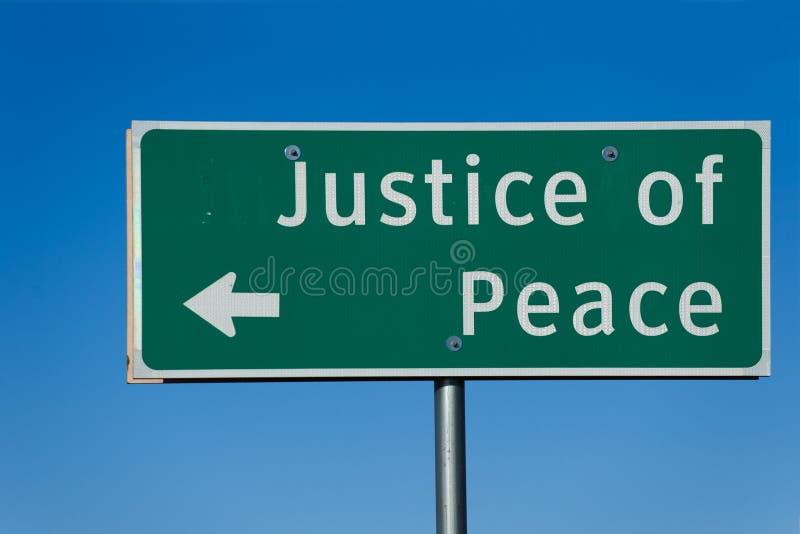 Justiça da paz imagens de stock