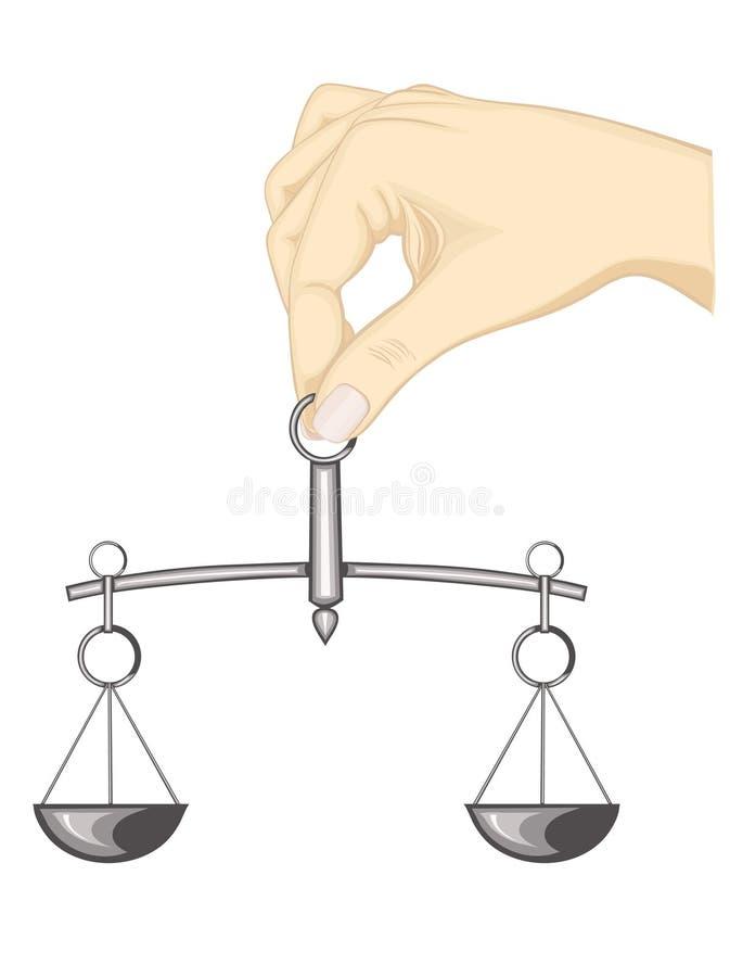 Justiça do balanço ilustração stock
