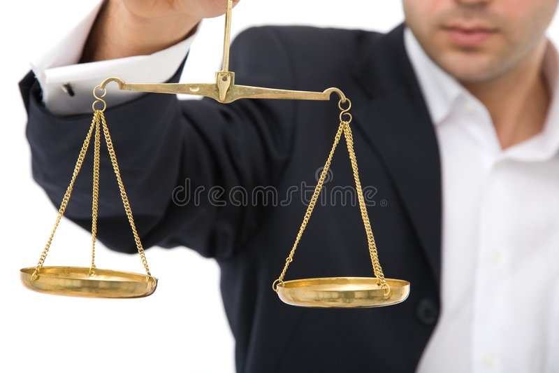 Justiça do negócio fotos de stock