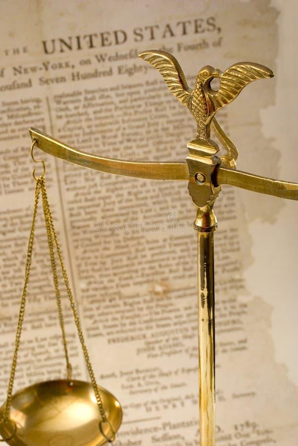 Justiça e direitas foto de stock