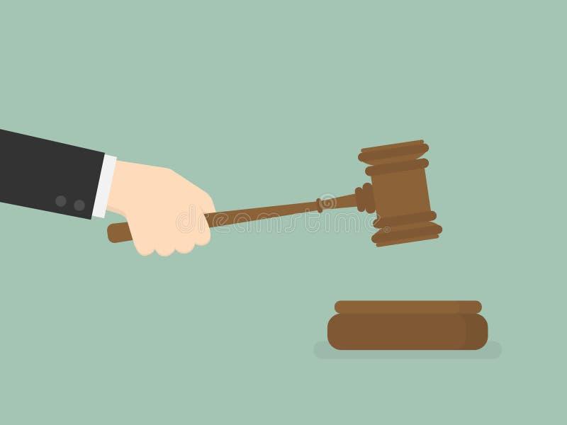 Justiça Gavel ilustração royalty free