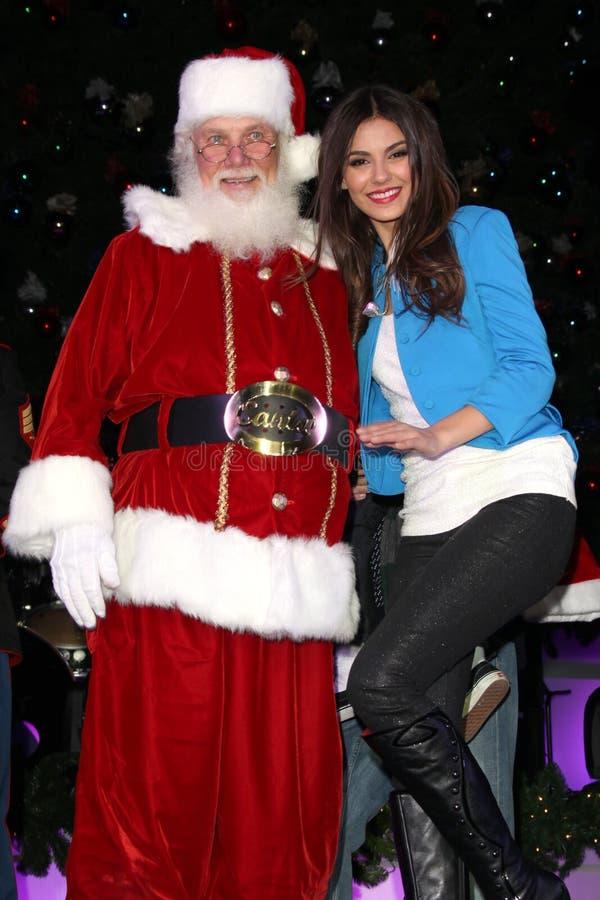 Justiça, Papai Noel, justiça de Victoria fotografia de stock royalty free
