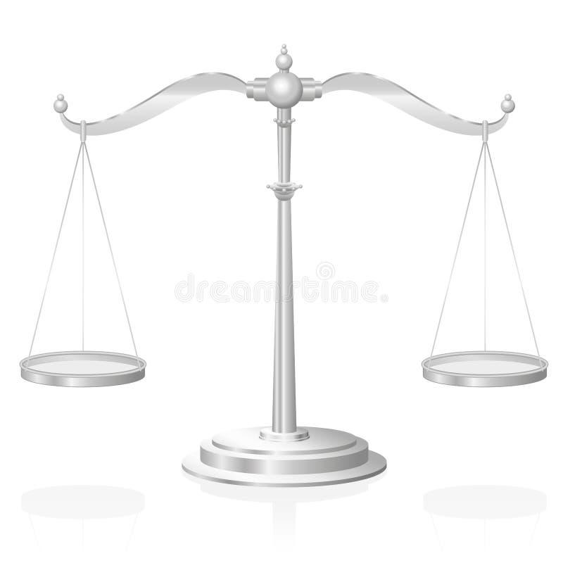 Justiça Symbol da escala ilustração royalty free