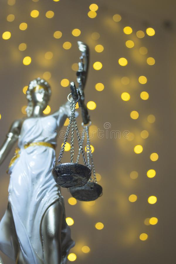 Justic雕象  夫人正义或Iustitia Justitia Rom 库存图片