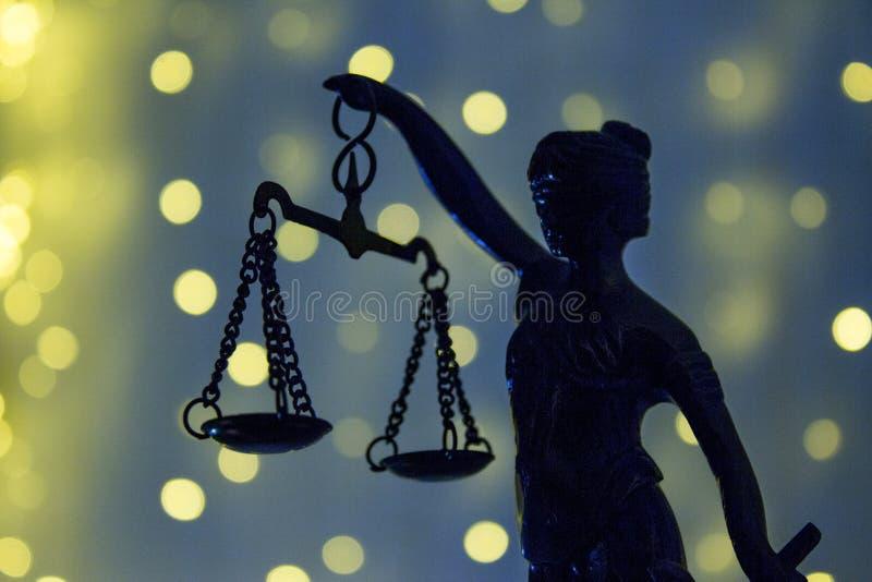 Justic雕象  夫人正义或Iustitia Justitia Rom 库存照片