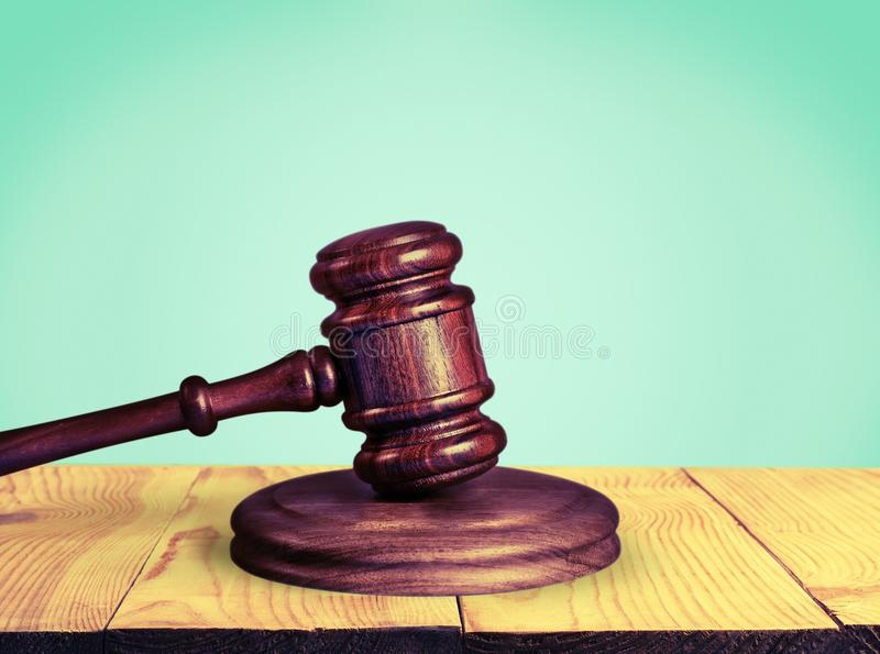 Justice. America brown counselor court crime gavel stock photography