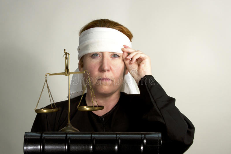 Justice Blindfolded Royalty Free Stock Photography