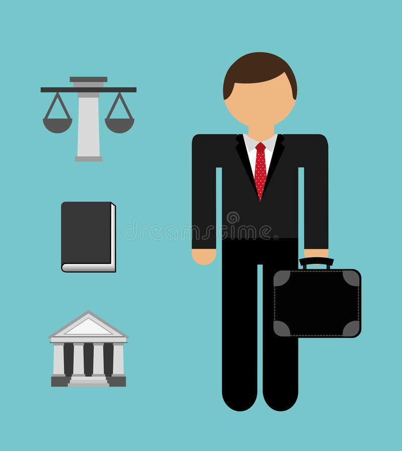 Justice concepts stock illustration