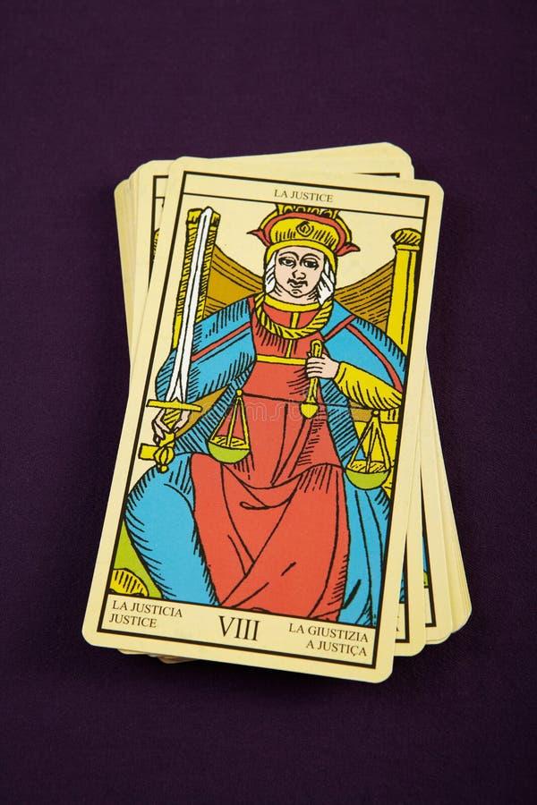 Justice de Tarot images stock