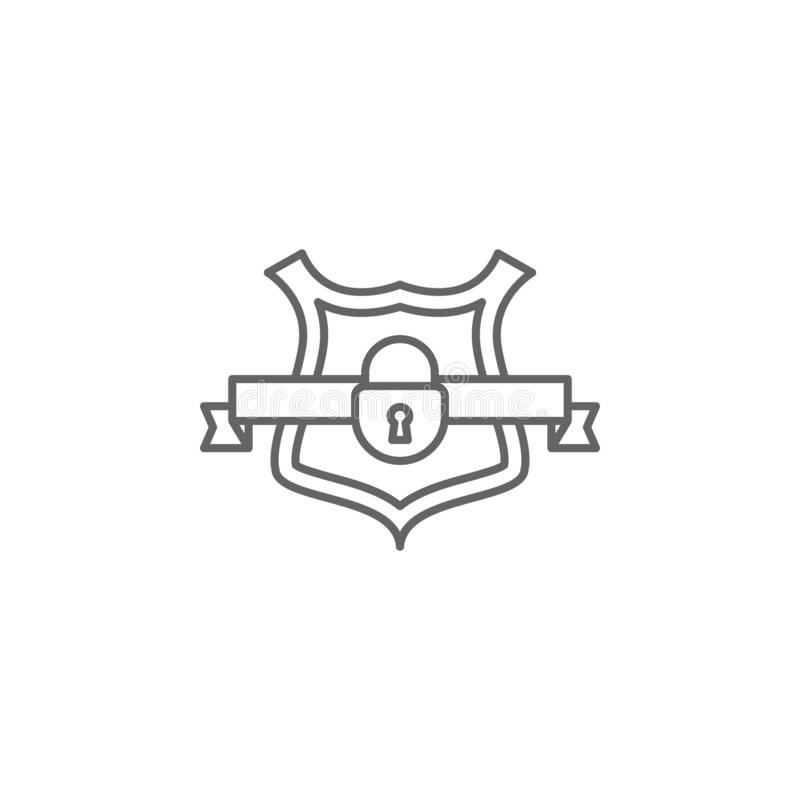 Justice defense outline icon. Elements of Law illustration line icon. Signs, symbols and s can be used for web, logo, mobile royalty free illustration