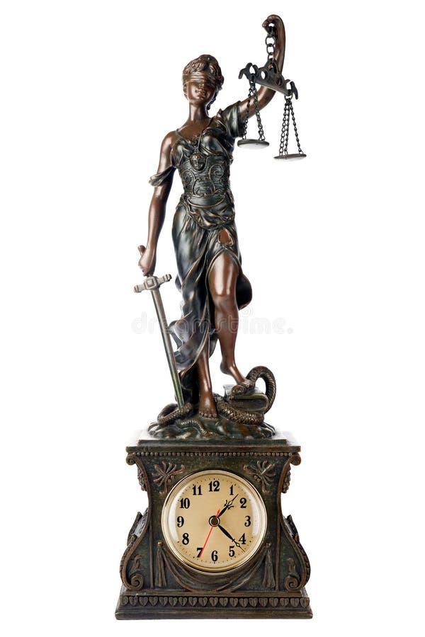 Justice des FO de temps photo libre de droits