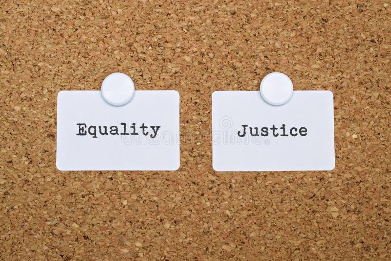 Justice et égalité image libre de droits