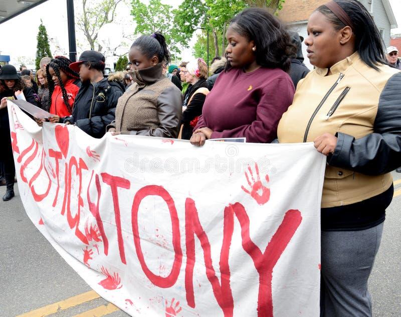Justice exigeante de protestation pour Tony Robinson image libre de droits