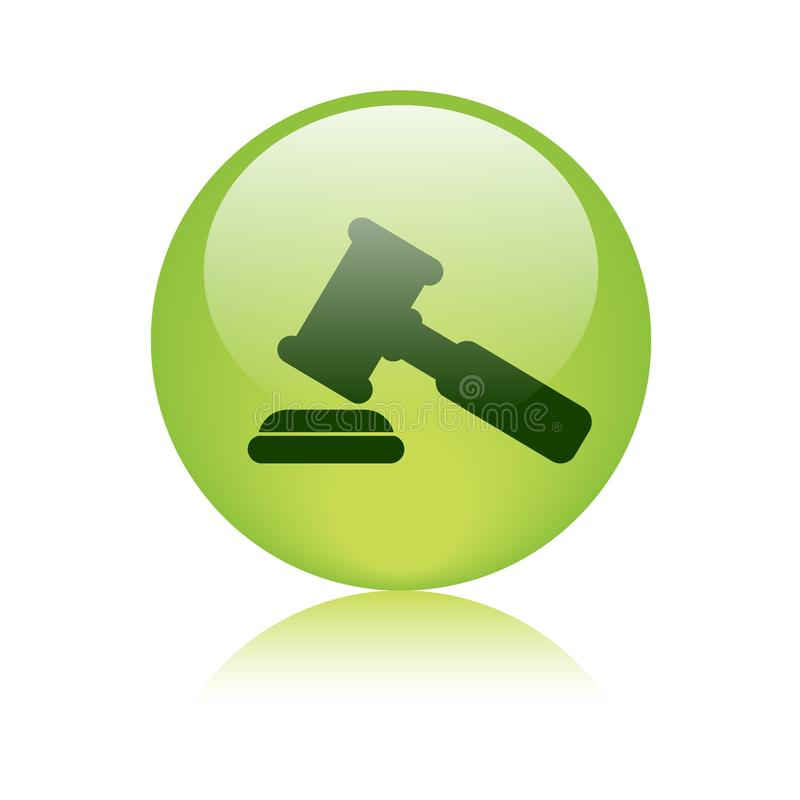 Justice gavel / hammer icon royalty free illustration