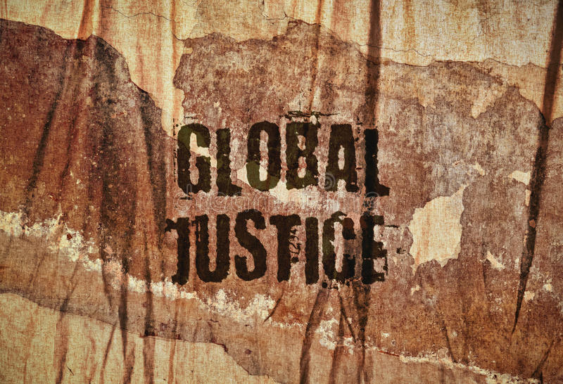Justice globale des textes photo stock