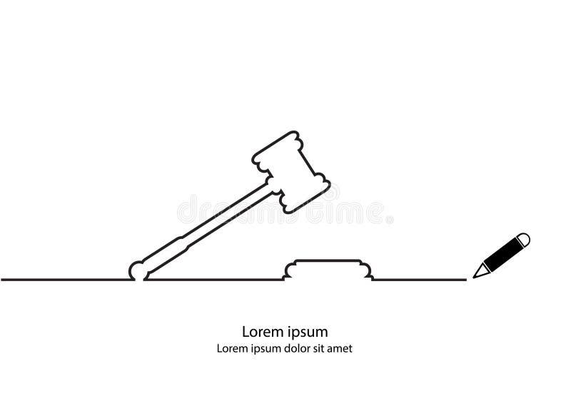 Justice hammer royalty free illustration