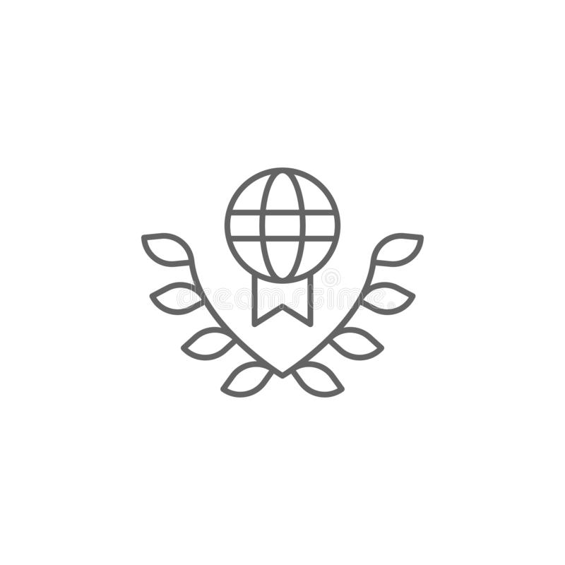 Justice international law outline icon. Elements of Law illustration line icon. Signs, symbols and vectors can be used for web, royalty free illustration