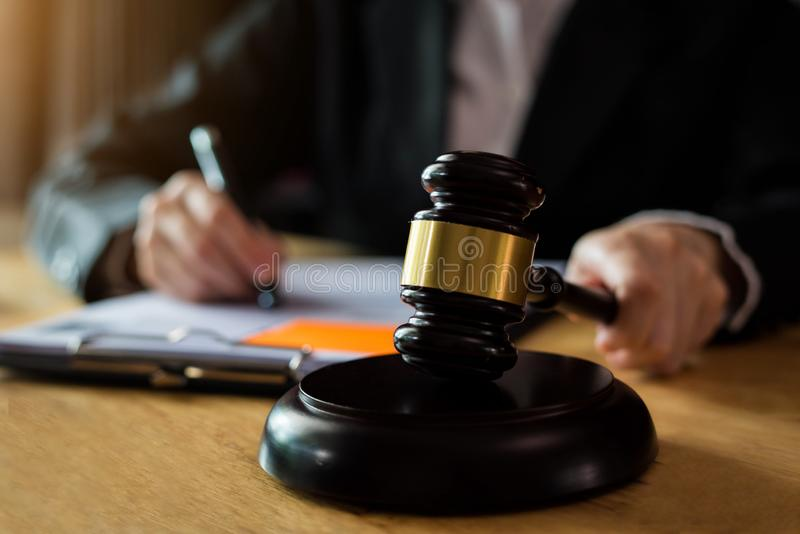 Justice and law concept. stock photography