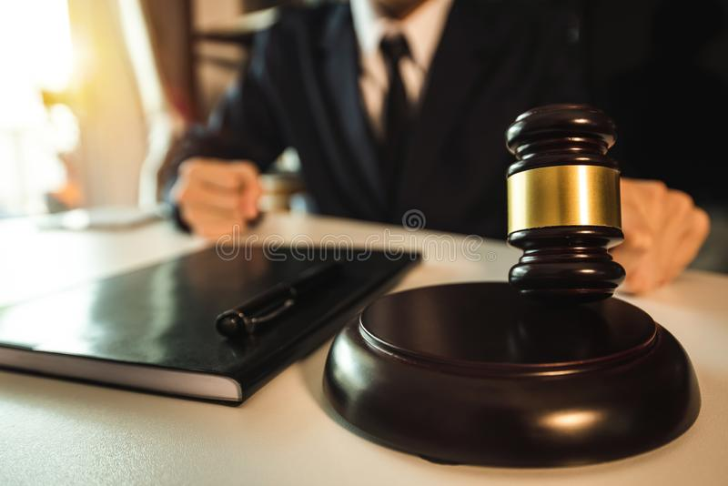 Justice and law concept stock photography