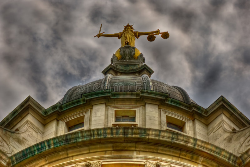 Justice at The Old Bailey royalty free stock photo