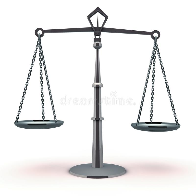 Justice scale balance vector illustration