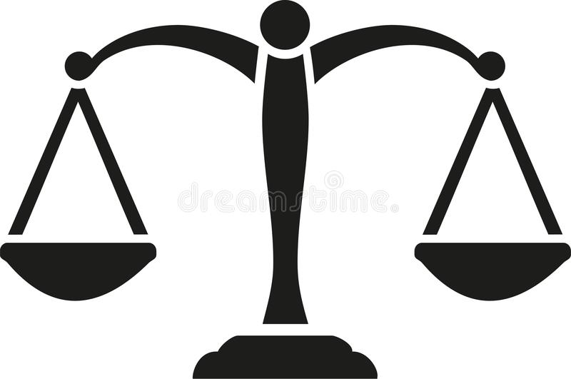 Justice Scale vector vector illustration