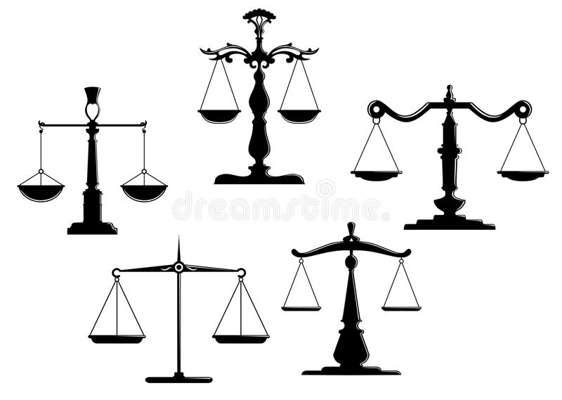 Justice Scales Stock Vector  Image Of Liberty  Chain
