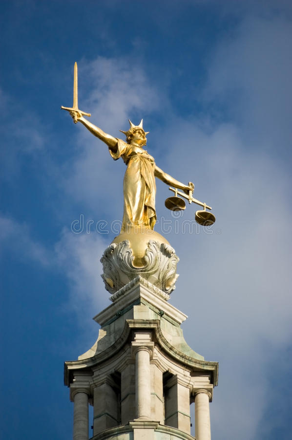 Justice statue, Old Bailey