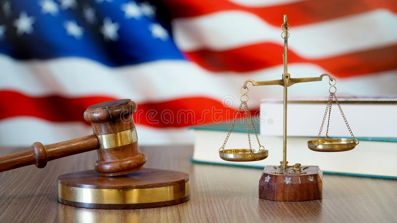 Justice for United States Laws in American Court stock photography