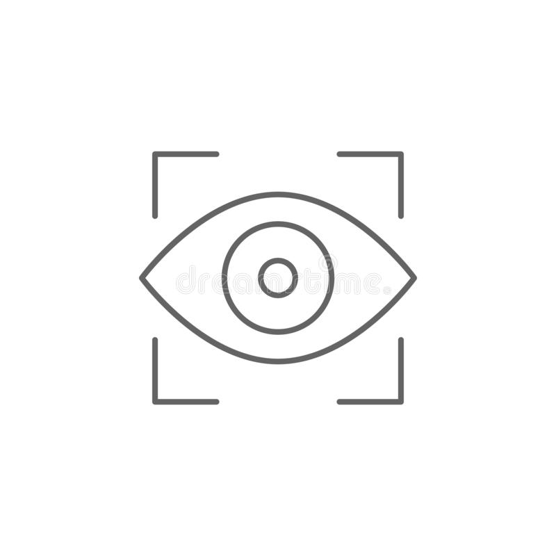 Justice vision outline icon. Elements of Law illustration line icon. Signs, symbols and vectors can be used for web, logo, mobile vector illustration