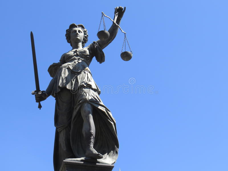 Justice woman statue royalty free stock images