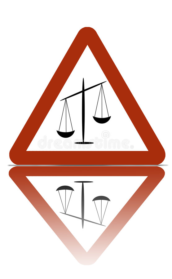 Justice zone warning stock photos