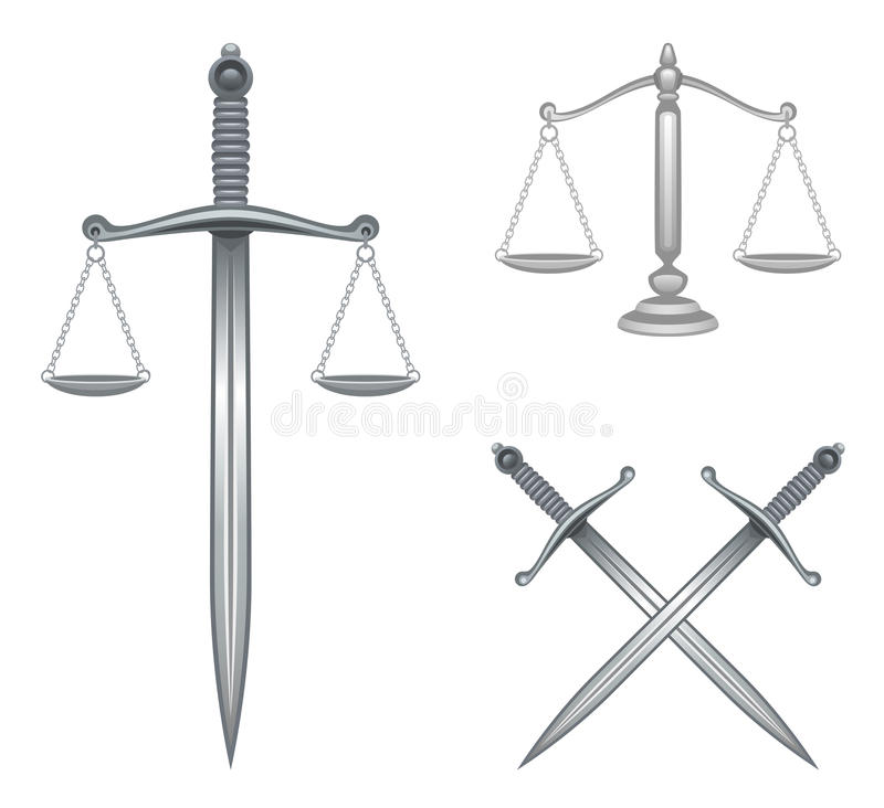 Justicia ilustración del vector