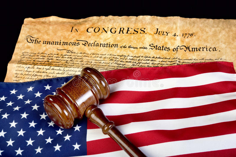 Justicia americana imagen de archivo libre de regalías