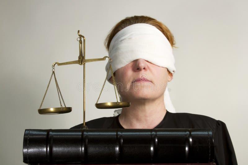 Justicia ciega foto de archivo libre de regalías